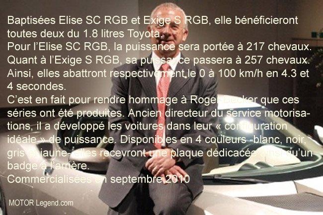 LOTUS CÉLÈBRE SON CHEF MOTORISTE Roger Becker