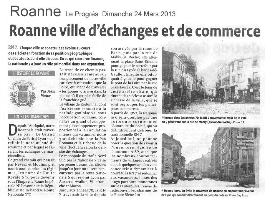 Le progrés Dimanche 24 Mars 2013