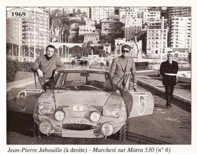 MATRA 530 Rallye Monte-Carlo - Méditerrannée 1969