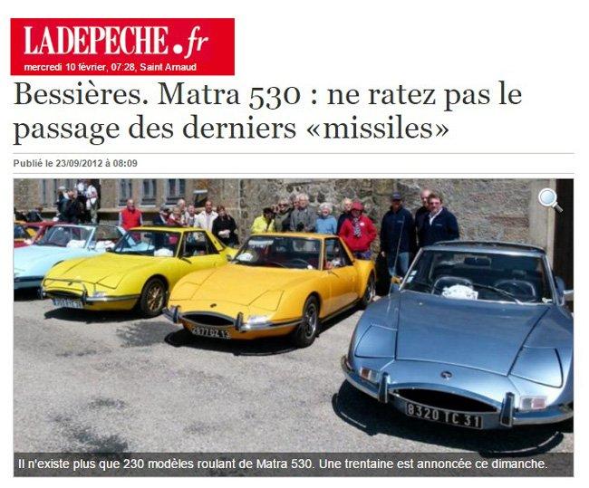 Bessières matra 530 23 sept 2012