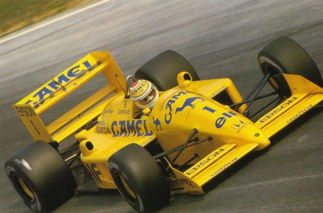 1988 Nelson Piquet Lotus 100T Honda 4ème Spa
