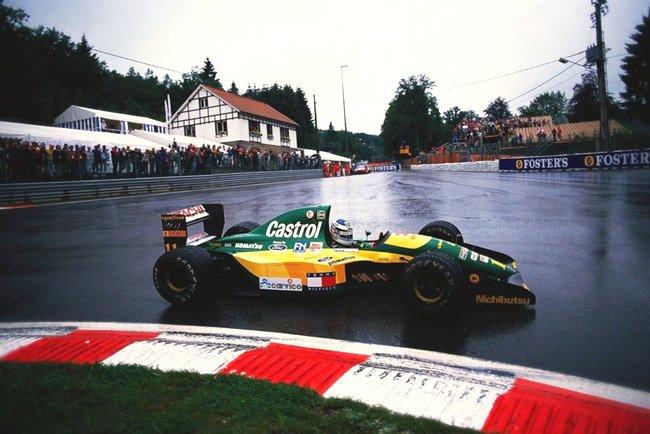 1992 Spa francorchamps Mikai Häkkinen Team Lotus Lotus 107 - Ford HB 3.5 V8 finished 6th