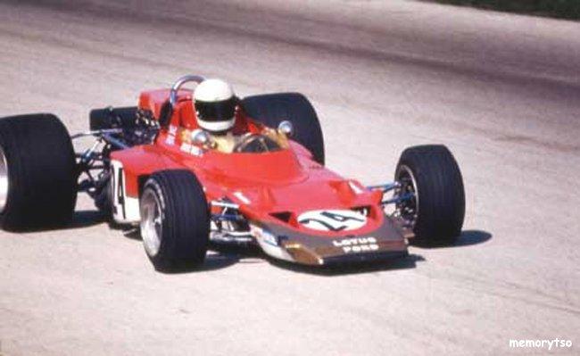 La Lotus 72 de John Miles sans ses ailerons
