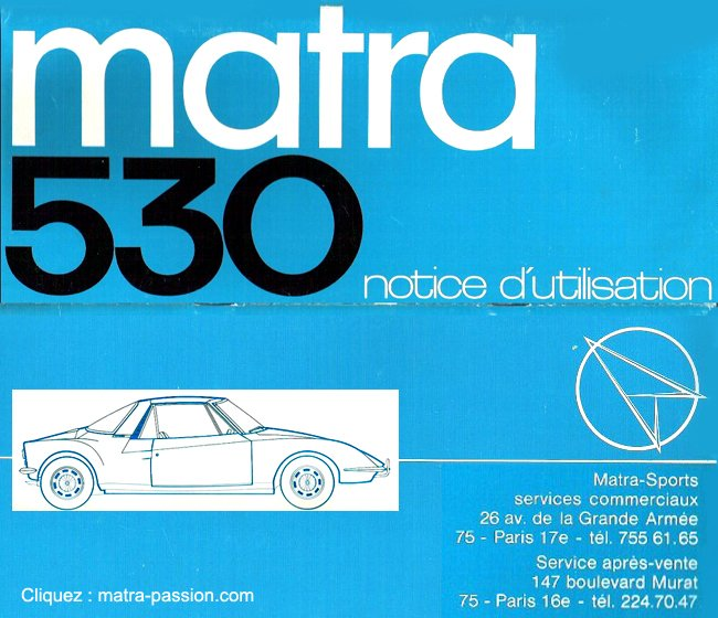 notice-dutilisation matra 530