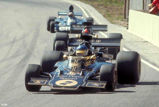 9 Sept 1973 Ronnie devant Emerson Lotus 72E