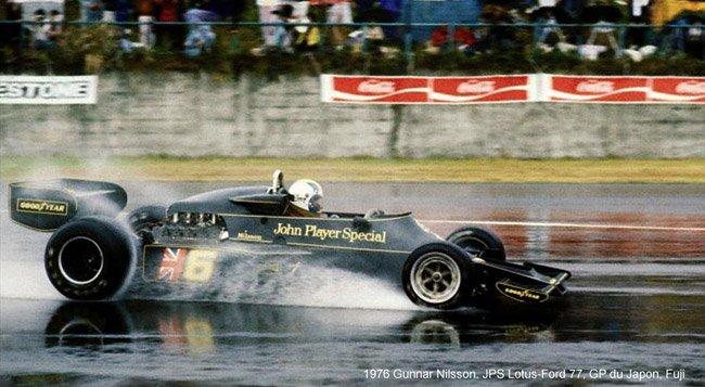 Gunnar Nilsson, JPS Lotus-Ford 77, 1976 Japanese Grand Prix, Fuji