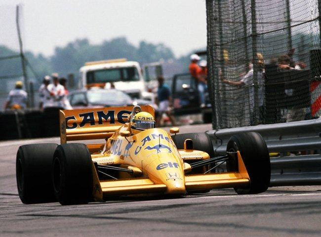 21 juin 1987 Detroit vict Ayrton Senna N°12 Lotus Honda 99T