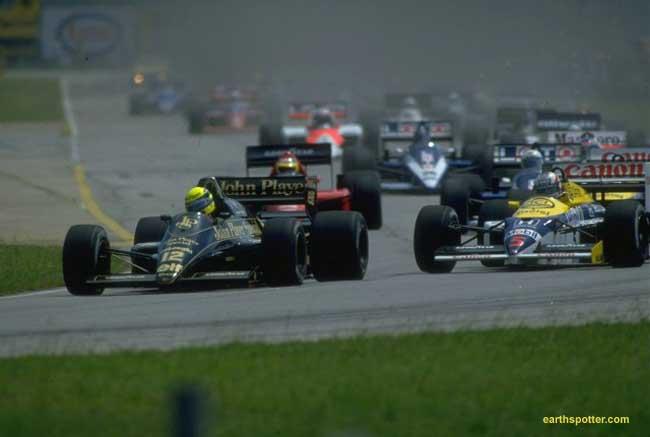 Ayrton^Senna^-^JPS^Lotus^98t^Renault^vs^Nigel^Mansell^-^Canon^Williams^FW11^Honda^-^1986^Brazilian^-640x430