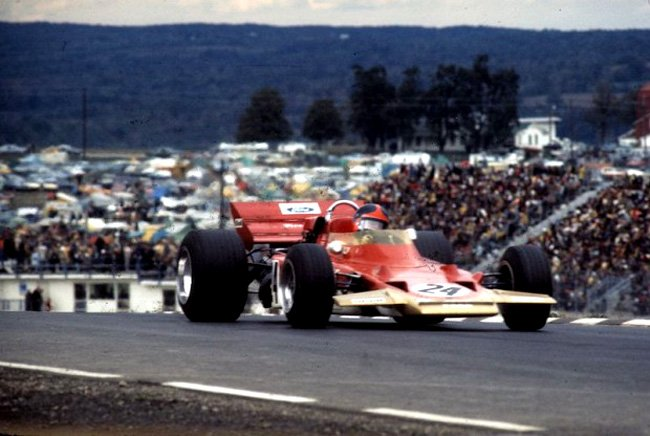 Emerson Fittipaldi a remporté le Grand Prix des États-Unis 1970 à Watkins Glen dans la Lotus-Ford 72 Photo Autosports