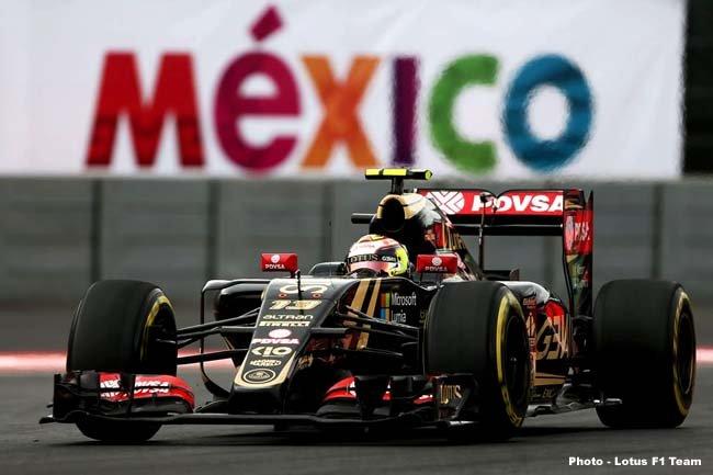 Pastor Maldonado Lotus F1 E23 Mexican Grand Prix, Friday 30 October 2015. Mexico City,