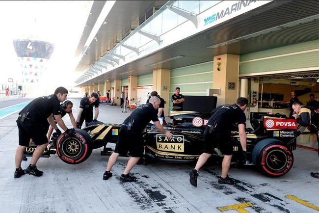 Derniere pour la Lotus E23 Test abu d'habi 2015