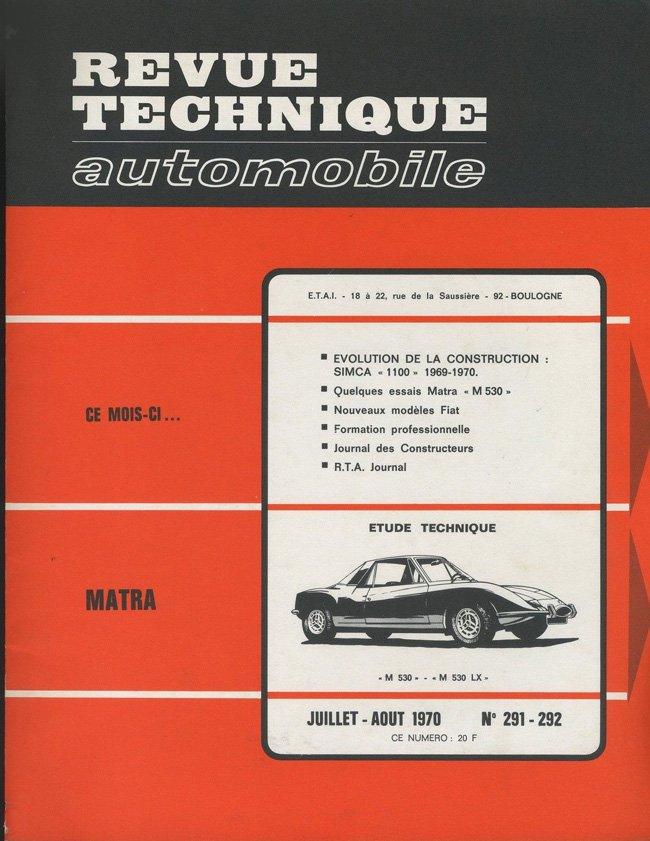 Revue technique Matra 530