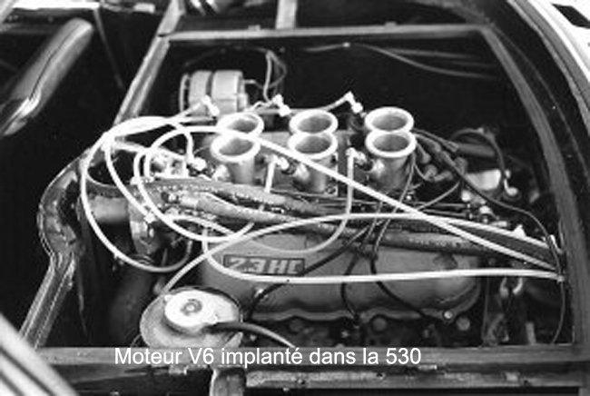 Le Moteur V6 Ford implanté dans la 530