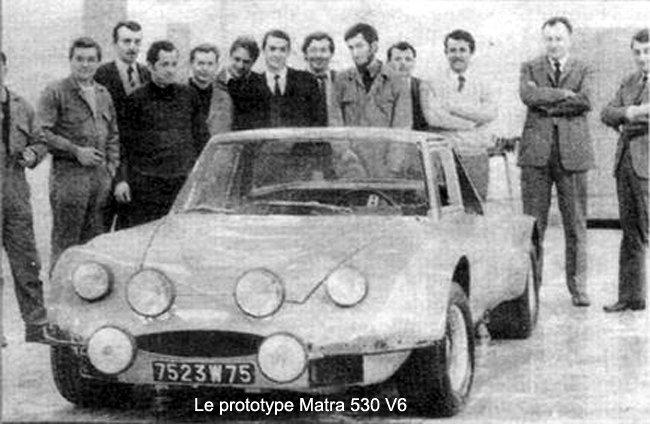 Le Prototype Matra 530 V6