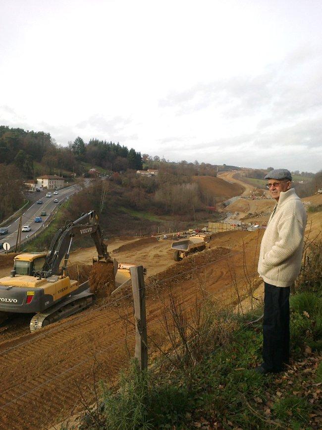 Gérard sur chantier